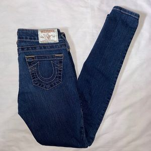True Religion Jeans with gold accent